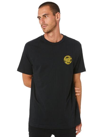 BLACK MENS CLOTHING SANTA CRUZ TEES - SC-MTD0912BLK