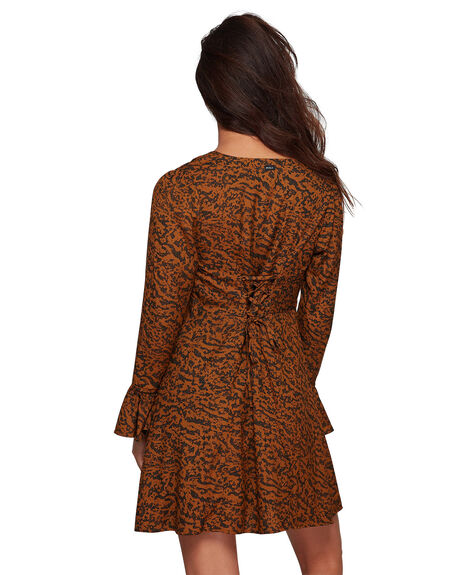 ANTIQUE BRON WOMENS CLOTHING RVCA DRESSES - RV-R207762-A64