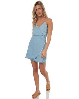 PALE BLUE WOMENS CLOTHING LILYA DRESSES - CHD01-LSM17PBLU