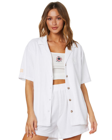 WASHED WHITE OUTLET WOMENS MISFIT FASHION TOPS - MT102404WWHT