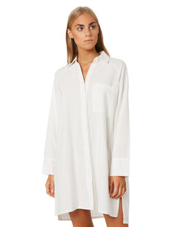 WHITE WOMENS CLOTHING ZULU AND ZEPHYR DRESSES - ZZ3088_WHT