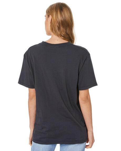 WASHED BLACK WOMENS CLOTHING THE HIDDEN WAY TEES - H8204002WSHBK