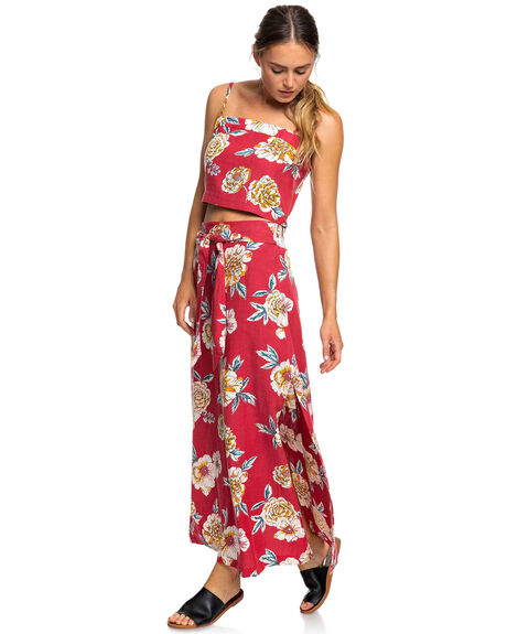 DEEP CLARET SEPT WOMENS CLOTHING ROXY SINGLETS - ERJWT03331-RQH6