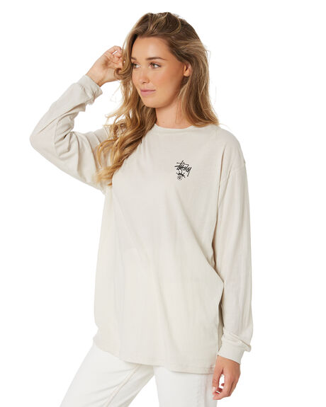 OFF WHITE WOMENS CLOTHING STUSSY TEES - ST105010OWHT