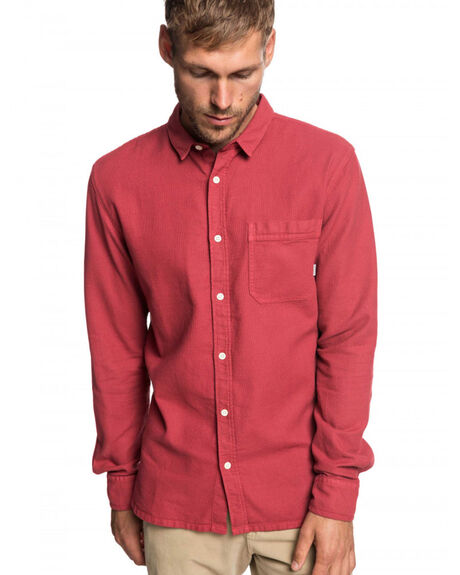 BRICK RED MENS CLOTHING QUIKSILVER SHIRTS - EQYWT03788-RQN0