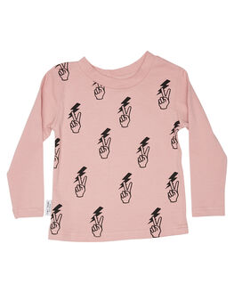 PINK KIDS GIRLS TINY TRIBE TOPS - TTGW18-1004VPNK