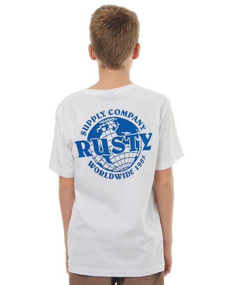 WHITE KIDS BOYS RUSTY TEES - TTB0563WHT