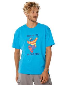 TURQUOISE MENS CLOTHING POLAR SKATE CO. TEES - PAULTUR