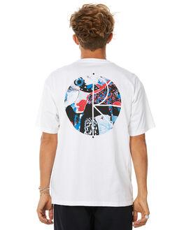 WHITE MENS CLOTHING POLAR SKATE CO. TEES - ORCHWHT