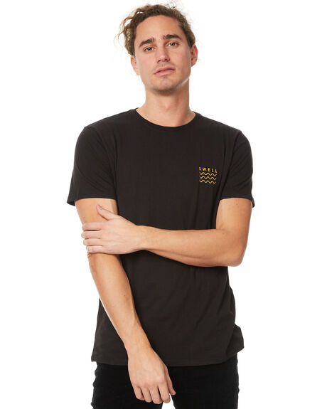 BLACK MENS CLOTHING SWELL TEES - S5174002BLK