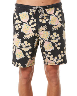 BLACK MENS CLOTHING KATIN BOARDSHORTS - TROUT01BLK