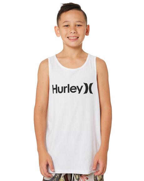 WHITE KIDS BOYS HURLEY TOPS - AR4112-100