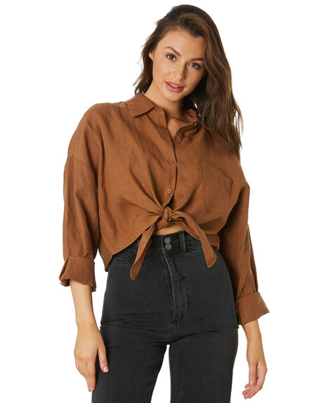 BRONZE WOMENS CLOTHING THRILLS FASHION TOPS - WTH9-200CBRNZ