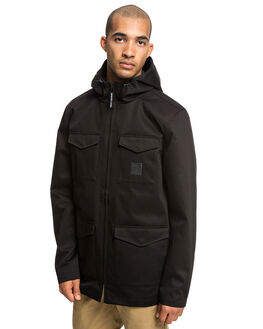 BLACK MENS CLOTHING DC SHOES JACKETS - EDYJK03196-KVJ0