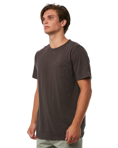 WASHED BLACK MENS CLOTHING RIP CURL TEES - CTECY28264