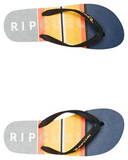 BLACK ORANGE MENS FOOTWEAR RIP CURL THONGS - TCTB780098