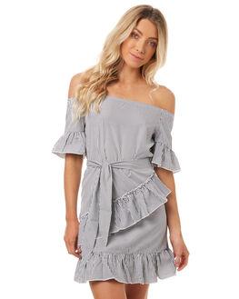 STRIPE WOMENS CLOTHING REVERSE DRESSES - 3767-1WHITE