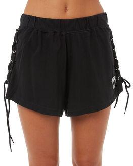 BLACK WOMENS CLOTHING STUSSY SHORTS - ST173605BLK