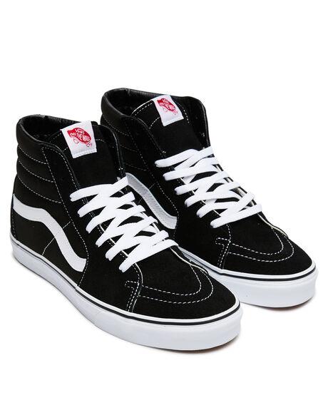 BLACK WOMENS FOOTWEAR VANS SNEAKERS - SSVN-0D5IB8CW