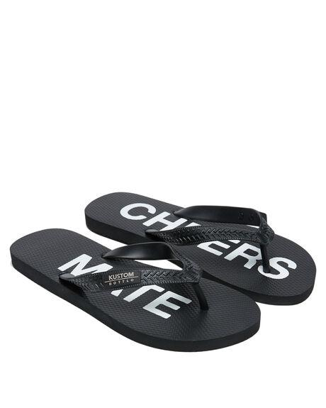 BLACK MENS FOOTWEAR KUSTOM THONGS - 4994222BLK