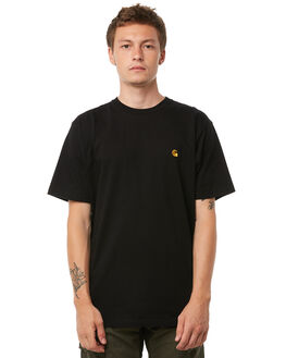 BLACK MENS CLOTHING CARHARTT TEES - I02194989