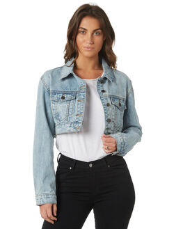 WHITE WASH WOMENS CLOTHING THE HIDDEN WAY JACKETS - H8184381WHITE