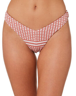 COCO CREAM CHECK WOMENS SWIMWEAR FELLA SWIM BIKINI BOTTOMS - FS-B-037CCC
