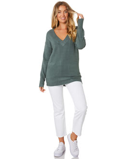 EVERGREEN WOMENS CLOTHING RUSTY KNITS + CARDIGANS - CKL0334EVG