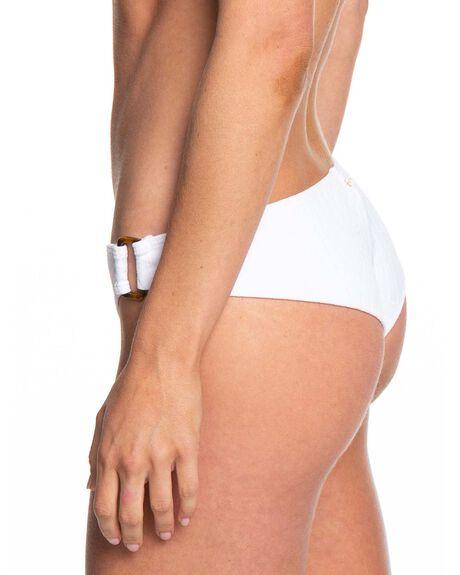 BRIGHT WHITE WOMENS SWIMWEAR ROXY BIKINI BOTTOMS - ERJX403853-WBB0