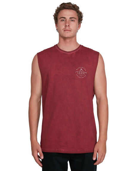 DEEP RED MENS CLOTHING BILLABONG SINGLETS - BB-9503505-D56