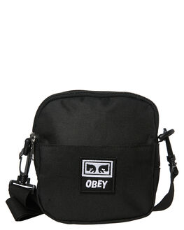 BLACK MENS ACCESSORIES OBEY BAGS + BACKPACKS - 100010094BLK