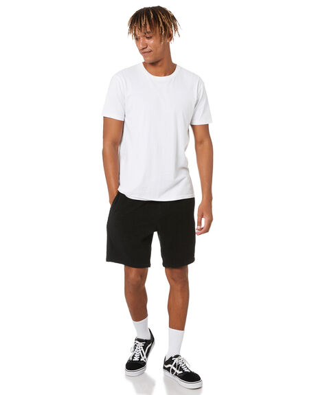 BLACK MENS CLOTHING TOWN AND COUNTRY SHORTS - TC212WSM05BLK