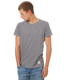 NEARLY BLACK MENS CLOTHING CHEAP MONDAY TEES - 0442467NBLK