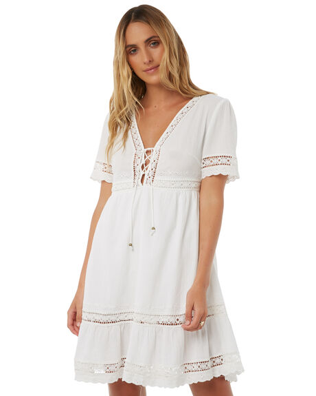 WHITE WOMENS CLOTHING ARNHEM DRESSES - ARMEMN01WHT