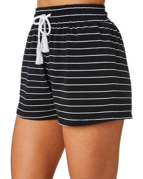 WHITE STRIPE WOMENS CLOTHING SWELL SHORTS - S8174231WHT