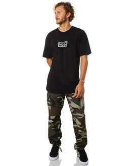 BLACK MENS CLOTHING OBEY TEES - 163081822BLK