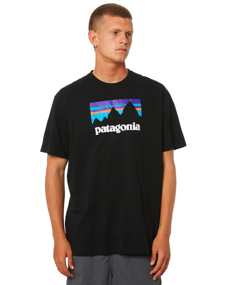 BLACK MENS CLOTHING PATAGONIA TEES - 39175BLK