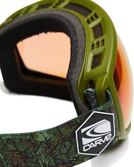 OLIVE ORANGE CAMO BOARDSPORTS SNOW CARVE GOGGLES - 6160OLVOC