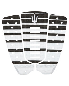 BLACK WHITE SURF HARDWARE FAR KING TAILPADS - 1210BLKWH