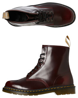 CHERRY RED CAMBRIDGE MENS FOOTWEAR DR. MARTENS BOOTS - SS23756600CHERCM