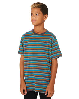 ASPHALT BLACK KIDS BOYS VOLCOM TOPS - C0131900ASB