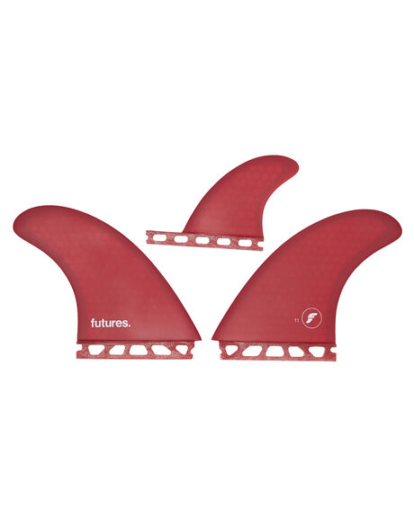RED SURF HARDWARE FUTURE FINS FINS - FT1-010304RED