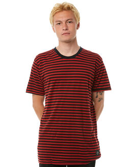 DUSTY RED MENS CLOTHING THE PEOPLE VS TEES - AW18008DRED