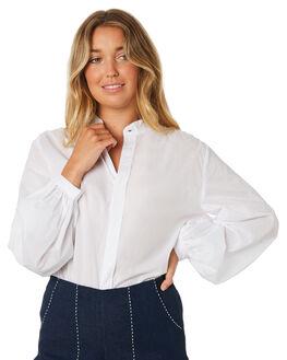 WHITE WOMENS CLOTHING LILYA FASHION TOPS - CT28-LAW19WHT