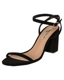 BLACK SUEDE WOMENS FOOTWEAR BILLINI HEELS - H1318BSDE