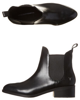 BLACK WOMENS FOOTWEAR WINDSOR SMITH BOOTS - GRINDEDBLK