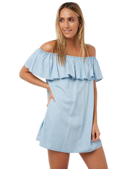 LIGHT INDIGO WOMENS CLOTHING ELWOOD DRESSES - W73715INDIG