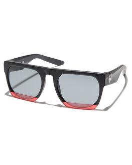 MATTE BLACK RED MENS ACCESSORIES DRAGON SUNGLASSES - 35060-010MBLKR