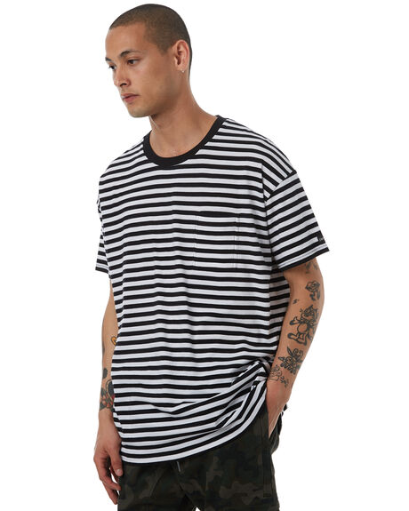 BLACK WHITE MENS CLOTHING ZANEROBE TEES - 122-LYKMBLKW