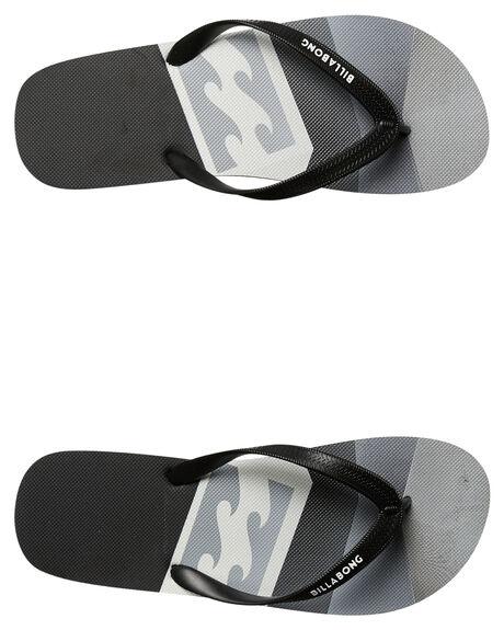 BLACK GREY MENS FOOTWEAR BILLABONG THONGS - 9671931BKGY